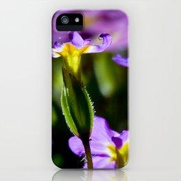 Light purple flowers iPhone Case