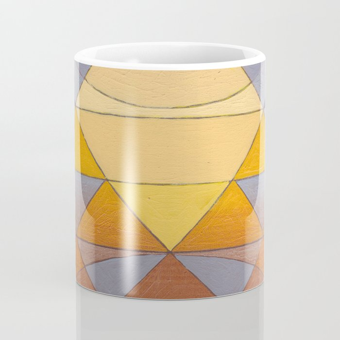 Pyramid Sun Mauve Purple Coffee Mug
