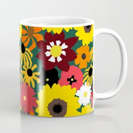 Retro Fall Flowers Coffee Mug
