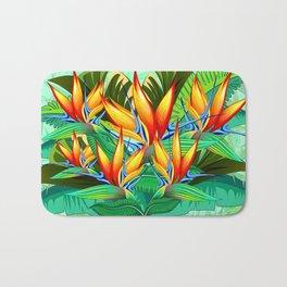 Bird of Paradise Flower Exotic Nature Bath Mat