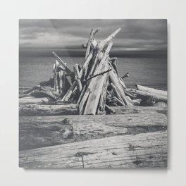 Driftwood Bonfire Metal Print