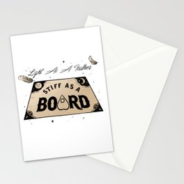 Light As A Feather Stiff As A Board | The Craft Stationery Cards