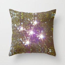 Ufo lights Throw Pillow