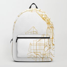 SEATTLE WASHINGTON CITY STREET MAP ART Backpack