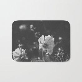 Black and white anemone flowers Bath Mat
