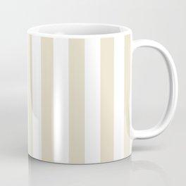 Narrow Vertical Stripes - White and Pearl Brown Coffee Mug