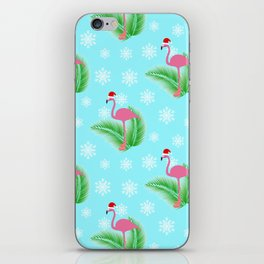 Flamingo at winter iPhone Skin
