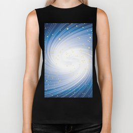 Stars, Light and Motion in space Biker Tank