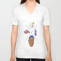 big poppa V-neck T-shirts featuring Big POPPA by Chan Harley