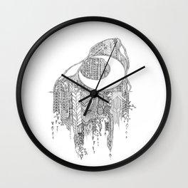 Moon in the Mountain Wall Clock