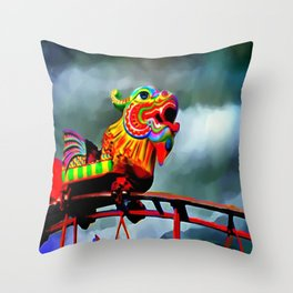 Carnival Dragon Throw Pillow