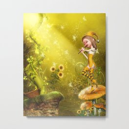 The Flautist Metal Print