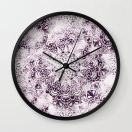 MANDALA WONDERLAND IN PINK Wall Clock