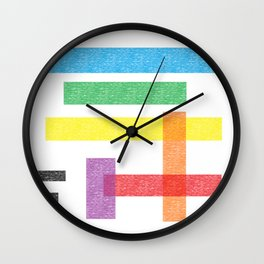 Crayola Pattern Wall Clock