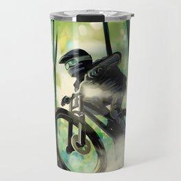 Forest jump mountain biker Travel Mug