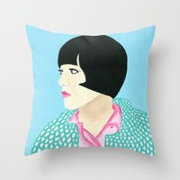anna Throw Pillows featuring Anna by kate gabrielle
