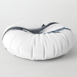 Bryde´s whale and baby whale Floor Pillow