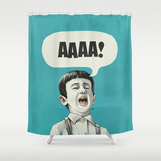 AAAA! (Blue) Shower Curtain