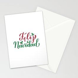Feliz Navidad calligraphy hand lettering. Merry Christmas in Spanish. Stationery Cards