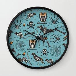 Halloween X-Ray Blue Wall Clock