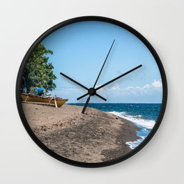 Sea Kayak Pointed East Wall Clock