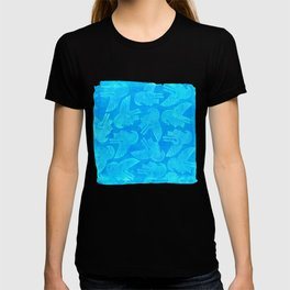 Ehecatyl - Aztec Wind God in Aztec Blue T-shirt