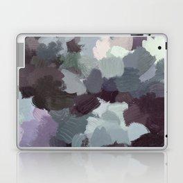 Dark Green Lilac Purple Gray Black Abstract Wall Art, Painting Art, Modern Wall Art Laptop & iPad Skin