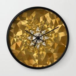 POLYNOID Sun / Gold Edition Wall Clock
