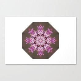 Lilac floral flake Canvas Print