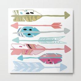 Pretty Arrows Metal Print