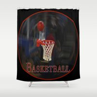 basketball Shower Curtains featuring Basketball by LoRo  Art & Pictures