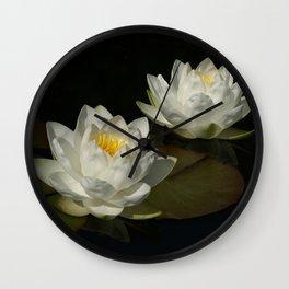 Water Lilys Wall Clock