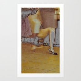 a modern lady Art Print