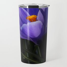 flowers of spring on black -5- Travel Mug