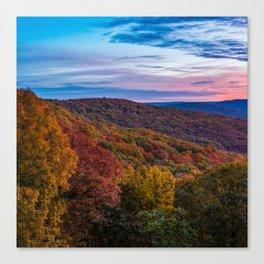 Artist Point Overlook Autumn Landscape - Square Format Canvas Print