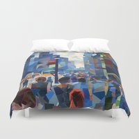 city Duvet Covers featuring City by Emma Reznikova