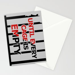 Until Every Cage Is Empty. Stationery Cards