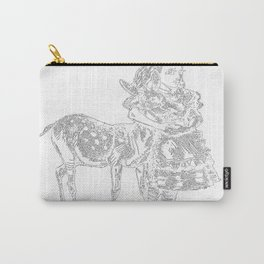 Alice and the Fawn in White Carry-All Pouch