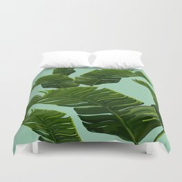 Hawaii Palm Tree Leaves Duvet Cover