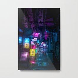 Cyberpunk city underground Metal Print