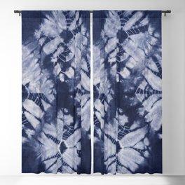 Denim Tie Dye Blackout Curtain