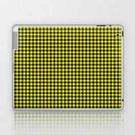 Mini Black and Bright Yellow Cowboy Buffalo Check Laptop & iPad Skin