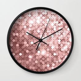 Rose gold glitter Wall Clock