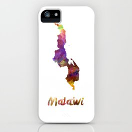 Malawi in watercolor iPhone Case