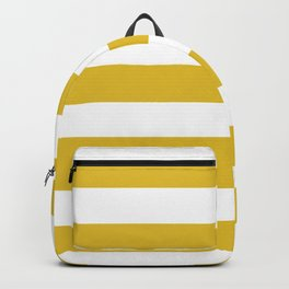Durian Yellow - solid color - white stripes pattern Backpack