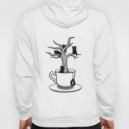 Bare tree with cats growing inside a cup of tea Hoody