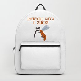 Mosquito insect bite blood suck saying comic fun gift idea Backpack