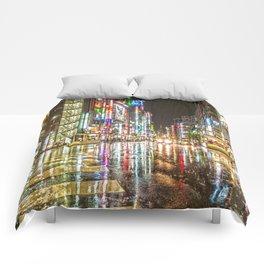 Rain In Japan Comforters
