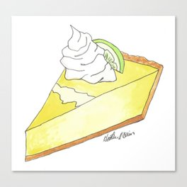 K is for Key Lime Pie Canvas Print