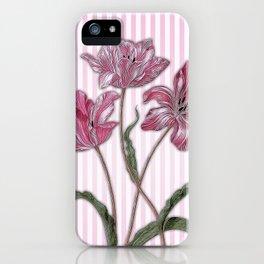 Maria Sibylla Merian: Three Tulips iPhone Case
